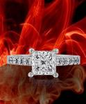Four Prong Solid Park Lane Diamond Engagement Ring