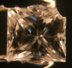 Chipped Princess Cut Diamond