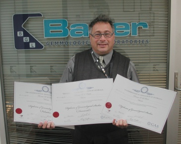 Ronnie Bauer with 3 Diplomas