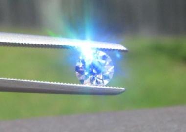 Fluorescent Diamond in Sunlight